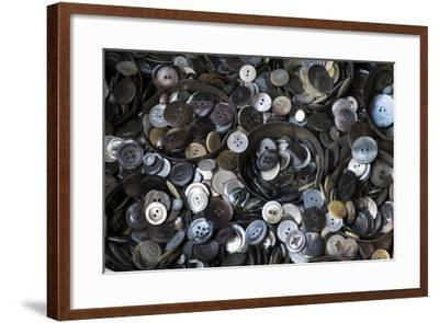 Pile of Old Buttons, New York City, New York, USA-Julien McRoberts-Framed Photographic Print