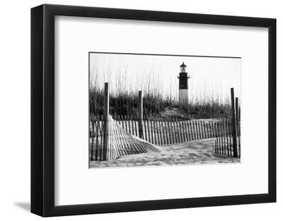 USA, Georgia, Tybee Island, Fences and Lighthouse-Ann Collins-Framed Photographic Print
