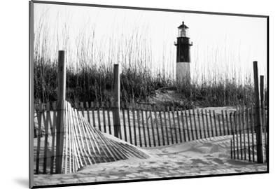 USA, Georgia, Tybee Island, Fences and Lighthouse-Ann Collins-Mounted Photographic Print
