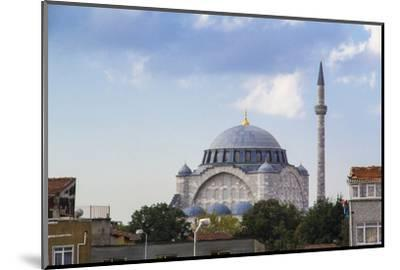 Turkey, Istanbul. the Mihrimah Sultan Mosque Near the Byzantine Land Walls of Istanbul, Turkey-Emily Wilson-Mounted Photographic Print