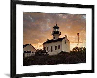 USA, California, San Diego, Old Point Loma Lighthouse at Cabrillo National Monument-Ann Collins-Framed Photographic Print