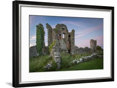 Ruins of Original Crom Castle, County Fermanagh, Northern Ireland, Uk-Brian Jannsen-Framed Photographic Print