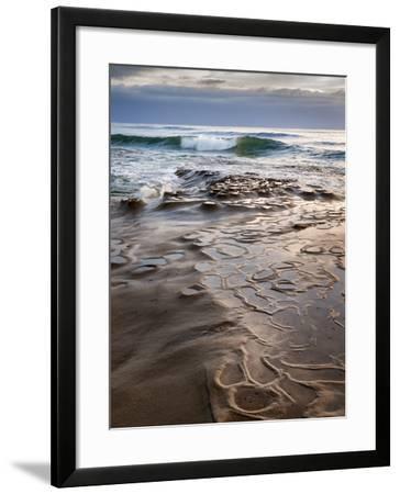 USA, California, La Jolla, Wave Breaking Toward Tide Pools at Coast Blvd-Ann Collins-Framed Photographic Print