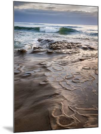 USA, California, La Jolla, Wave Breaking Toward Tide Pools at Coast Blvd-Ann Collins-Mounted Photographic Print