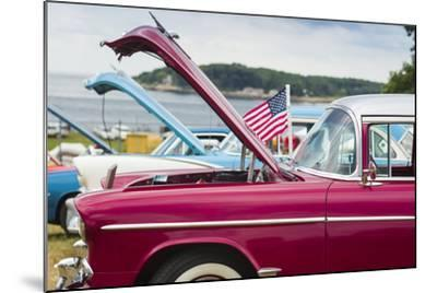 USA, Massachusetts, Cape Ann, Gloucester, Antique Car Show, Car Detail-Walter Bibikow-Mounted Photographic Print