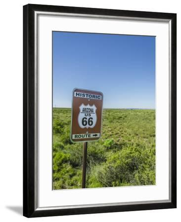 Historic Old Route 66 Passed Through Petrified Forest National Park, Az-Jerry Ginsberg-Framed Photographic Print