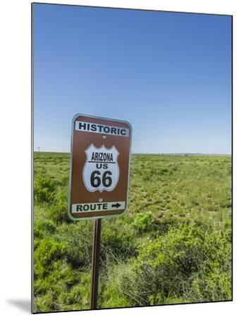 Historic Old Route 66 Passed Through Petrified Forest National Park, Az-Jerry Ginsberg-Mounted Photographic Print