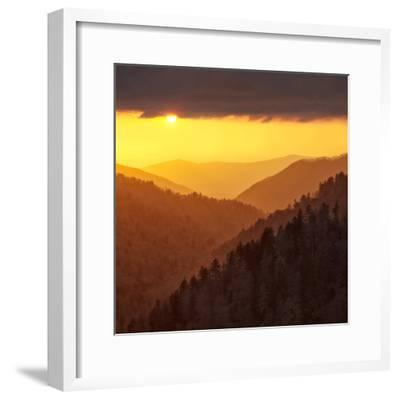 Sunset Light Reflected by Clouds Fills Valley with Warm Light-Ann Collins-Framed Photographic Print