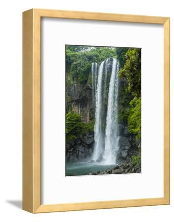 Jeongbang Pompom Waterfall, Jejudo Island, South Korea-Michael Runkel-Framed Photographic Print