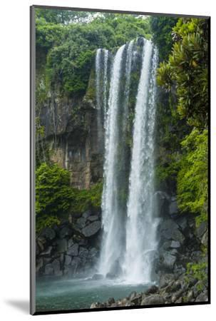 Jeongbang Pompom Waterfall, Jejudo Island, South Korea-Michael Runkel-Mounted Photographic Print
