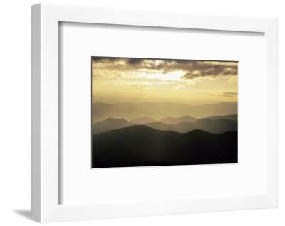 Sunset and Mountains Along Blue Ridge Parkway, North Carolina-Richard and Susan Day-Framed Photographic Print
