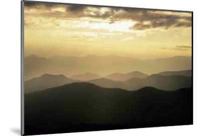 Sunset and Mountains Along Blue Ridge Parkway, North Carolina-Richard and Susan Day-Mounted Photographic Print