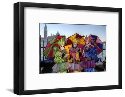Colorful Trio Venice at Carnival Time, Italy-Darrell Gulin-Framed Photographic Print