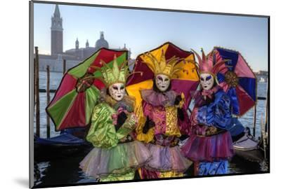 Colorful Trio Venice at Carnival Time, Italy-Darrell Gulin-Mounted Photographic Print