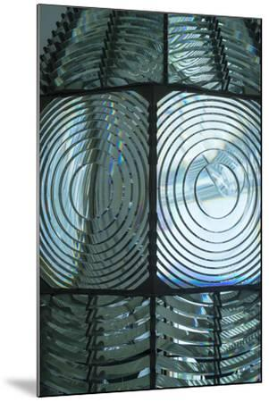 Fire Island, New York. Close Up of the Antique Fresnel Lighthouse Beacon-Julien McRoberts-Mounted Photographic Print