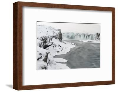 Godafoss Waterfall of Iceland During Winter-Martin Zwick-Framed Photographic Print