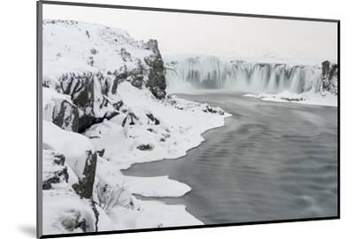 Godafoss Waterfall of Iceland During Winter-Martin Zwick-Mounted Photographic Print