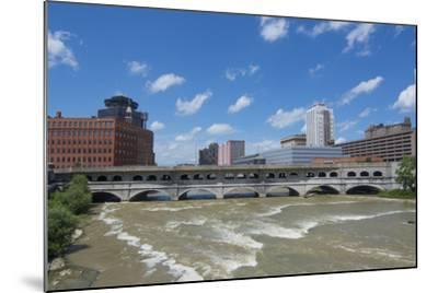 Rochester, New York, Beautiful Genesee River and Downtown Skyline on Main Street Brown Water River-Bill Bachmann-Mounted Photographic Print