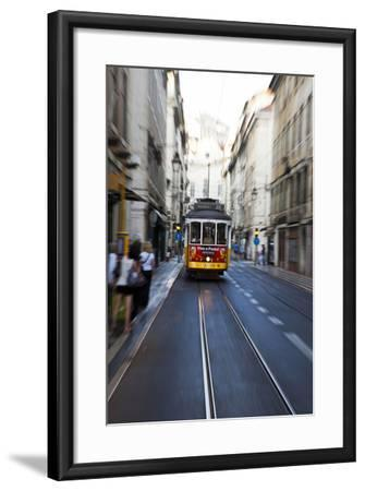 Portugal, Lisbon. Famous Old Lisbon Cable Car-Terry Eggers-Framed Photographic Print