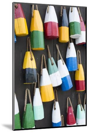 Bar Harbor, Maine, Colorful Buoys on Wall for Sale and State Specialty Souvenirs for Lobster Traps-Bill Bachmann-Mounted Photographic Print