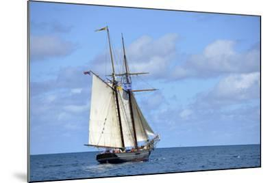 British Virgin Islands, Jost Van Dyke. Freedom Schooner Amistad under Sail-Kevin Oke-Mounted Photographic Print