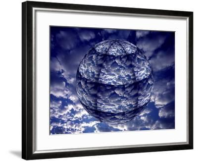 Concept of 3D Earth Climate-Jaynes Gallery-Framed Photographic Print