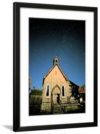 Barkerville at Night. Barkerville Historic Town, Cariboo, British Columbia, at Night-Richard Wright-Framed Photographic Print