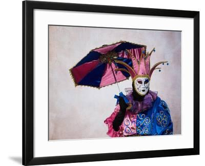 Elaborate Costume for Carnival, Venice, Italy-Darrell Gulin-Framed Photographic Print