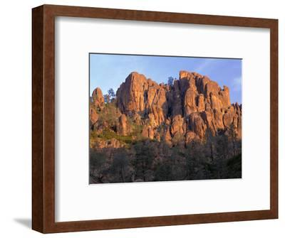 California, Pinnacles National Park, Sunrise Highlights Spires and Crags-John Barger-Framed Photographic Print