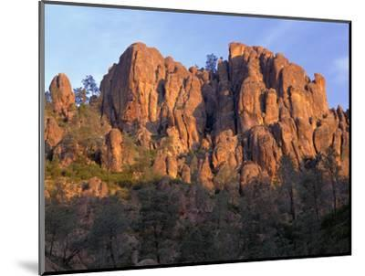 California, Pinnacles National Park, Sunrise Highlights Spires and Crags-John Barger-Mounted Photographic Print