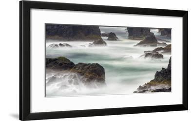 Famous Cliffs and Sea Stacks of Esha Ness, Shetland Islands-Martin Zwick-Framed Photographic Print
