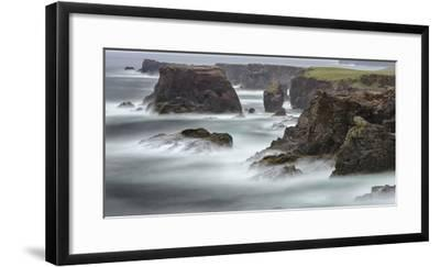 Famous Cliffs and Sea Stacks of Esha Ness, Shetland Islands-Martin Zwick-Framed Photographic Print