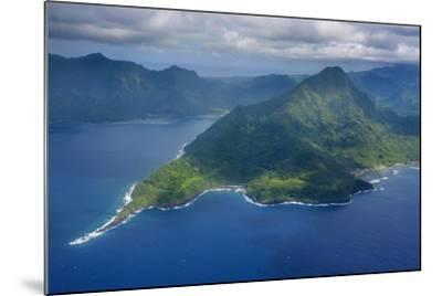 Aerial of the Island of Upolu, Samoa, South Pacific-Michael Runkel-Mounted Photographic Print