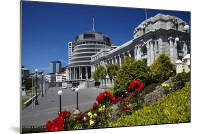 The Beehive and Parliament House, Wellington, North Island, New Zealand-David Wall-Mounted Photographic Print