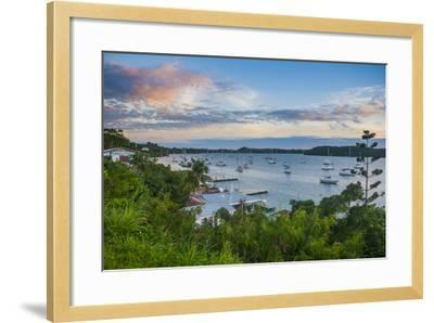 The Bay of Neiafu after Sunset, Vava'U Islands, Tonga, South Pacific-Michael Runkel-Framed Photographic Print