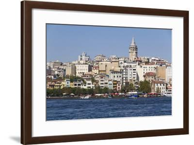 Turkey, Istanbul. Galata Tower, Seen from the Golden Horn, Seraglio Point and Old Istanbul-Emily Wilson-Framed Photographic Print