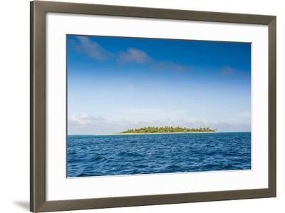 Little Island with a White Sand Beach in Ha'Apai Islands, Tonga, South Pacific-Michael Runkel-Framed Photographic Print