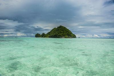 Little Island in the Rock Islands, Palau, Central Pacific-Michael Runkel-Photographic Print