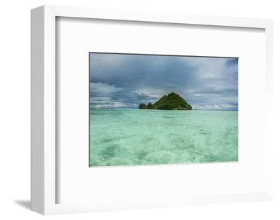 Little Island in the Rock Islands, Palau, Central Pacific-Michael Runkel-Framed Photographic Print