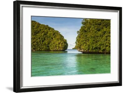 Little Rock Islet in the Famous Rock Islands, Palau, Central Pacific-Michael Runkel-Framed Photographic Print