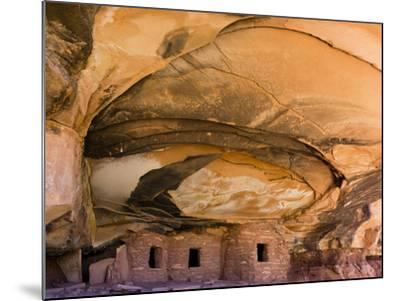 USA, Utah, Blanding. Fallen Roof Ruin in Road Canyon on Cedar Mesa-Charles Crust-Mounted Photographic Print