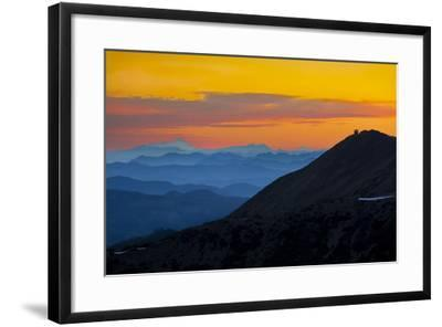 Washington, Sunrise, Mt. Fremont Lookout and the Cascade Range from Second Burroughs-Gary Luhm-Framed Photographic Print