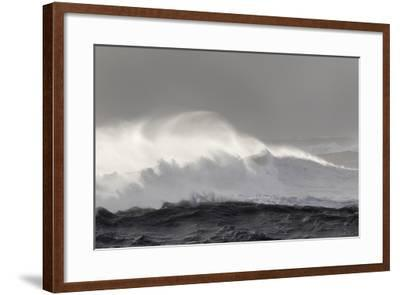 North Atlantic Coast Near Vik Y Myrdal During a Winter Storm with Heavy Gales-Martin Zwick-Framed Photographic Print