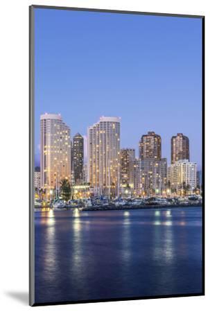 Hawaii, Honolulu, Twilight Waikiki Skyline-Rob Tilley-Mounted Photographic Print