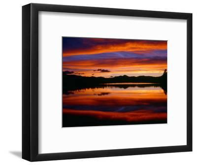 USA, Colorado, Sunset Ignites the Sky over Echo Lake, Arapaho National Forest-John Barger-Framed Photographic Print