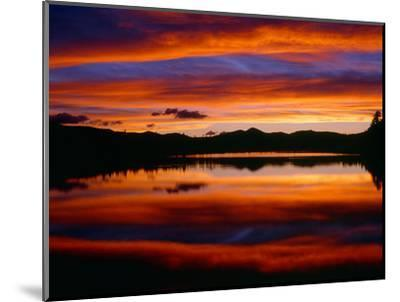 USA, Colorado, Sunset Ignites the Sky over Echo Lake, Arapaho National Forest-John Barger-Mounted Photographic Print
