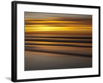 USA, California, La Jolla, Abstract of Incoming Waves at Sunset-Ann Collins-Framed Photographic Print