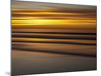 USA, California, La Jolla, Abstract of Incoming Waves at Sunset-Ann Collins-Mounted Photographic Print