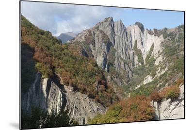 Azerbaijan, Sheki. A Rocky Cliffside Outside of Sheki-Alida Latham-Mounted Photographic Print