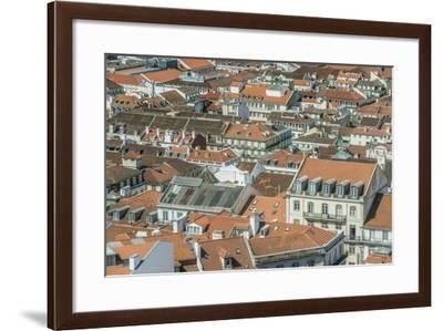 Portugal, Lisbon, Baixa Rooftops from Sao Jorge Castle-Rob Tilley-Framed Photographic Print